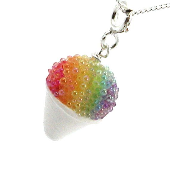 Hey, I found this really awesome Etsy listing at https://www.etsy.com/listing/76108007/rainbow-snow-cone-necklace