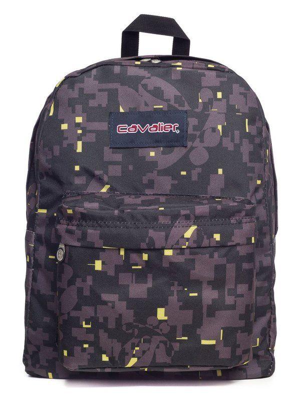 Mochila escolar Cavalier estampada pixel - Enluaze Loja Virtual | Bolsas, mochilas e pastas