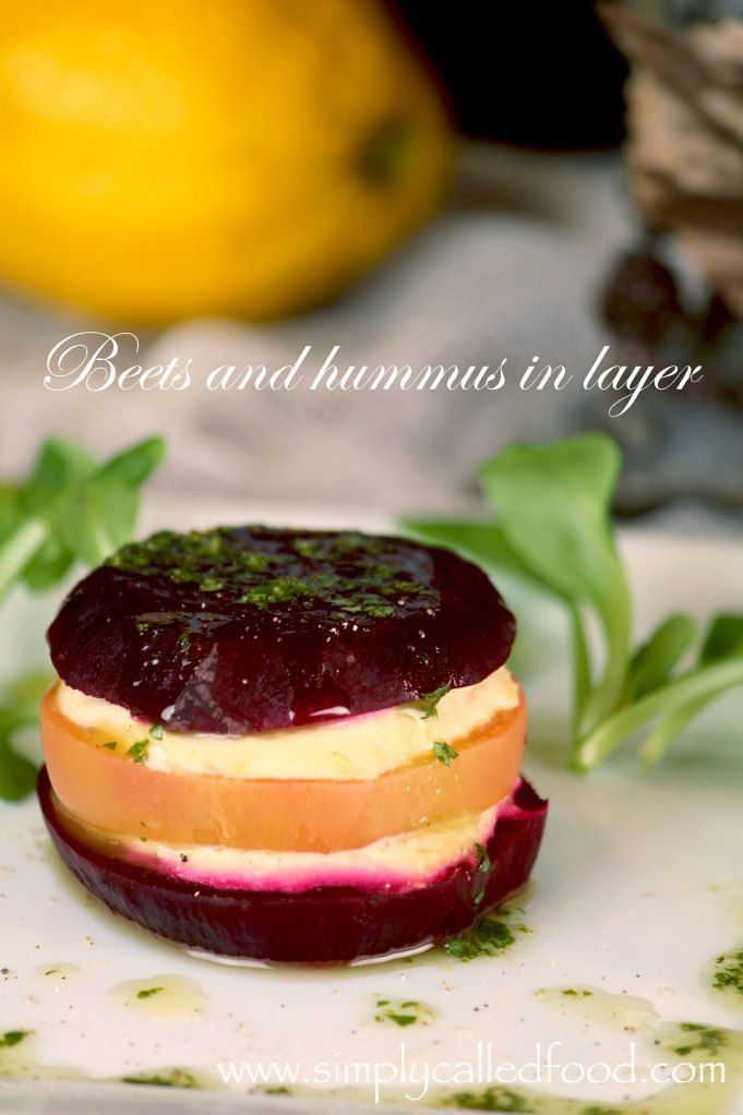 Beets and hummus in layer | Clean Eating | Pinterest | Beets, Hummus ...