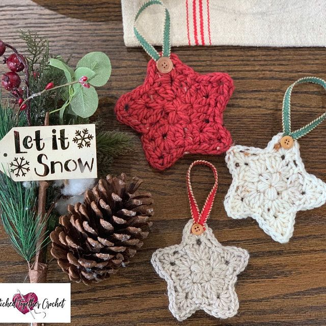 Star In 2020 Christmas Can Only PATTERN ONLY Crochet Christmas Star, Christmas Ornament, Holiday