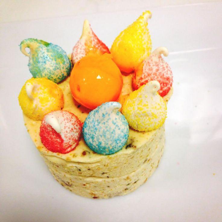 Nougat glacé, Parfait mandarine #strabourgeoiseparis #dessert #parfaitglace #restaurantinparis