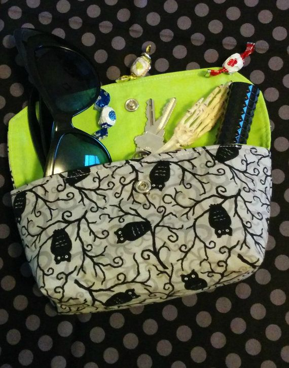 Moonlight Owls Mini Clutch with Snap by GraveEndeavours on Etsy