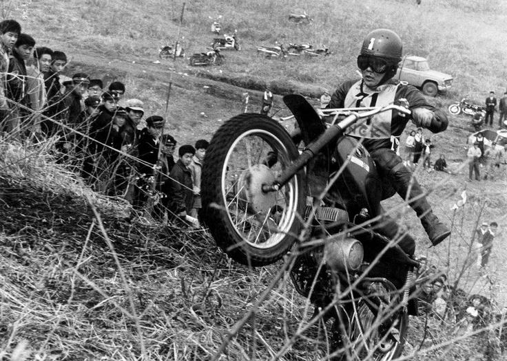 1964 MFJ モトクロス日本GP(群馬:相馬原)カワサキコンバット三橋実さん