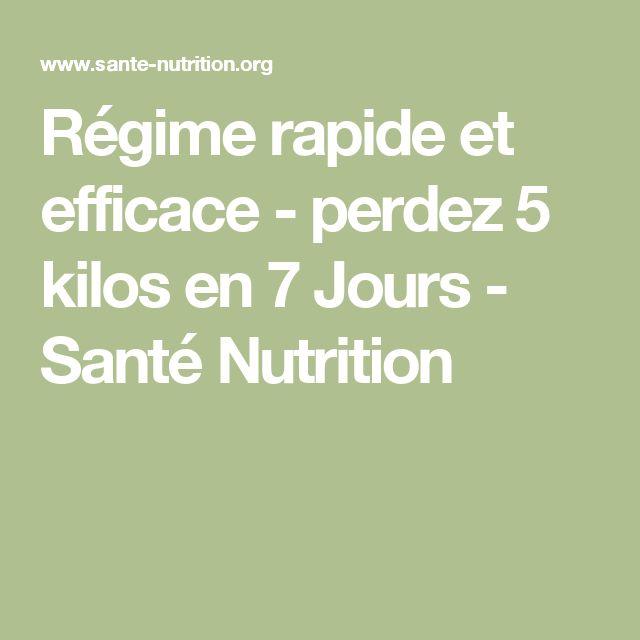 Régime rapide et efficace - perdez 5 kilos en 7 Jours - Santé Nutrition