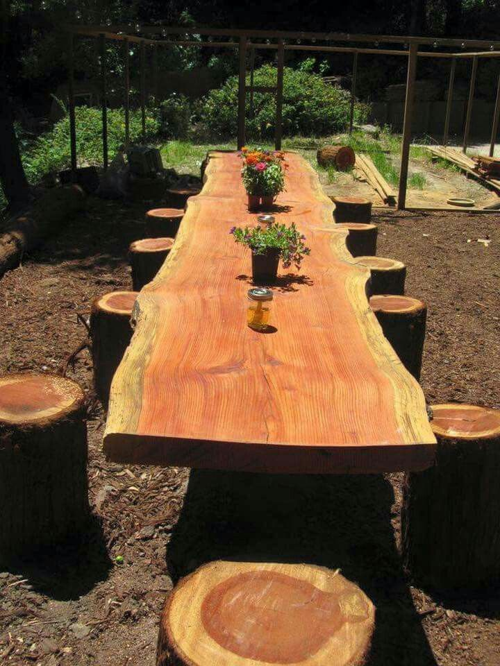 Now This Is Nice For An Outdoor Wedding Or Just A Dining Table Outside Your Beautiful Garden Definitely Family Project Looks Like Of It Was Milled Into