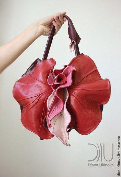 Женские сумки ручной работы. Ярмарка Мастеров - ручная работа Орхидея NEW красная. Handmade.
