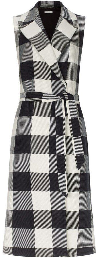 Pin for Later: Amal Clooney Just Made This Statement Piece a Wardrobe Essential Tome Black Plaid Sleeveless Trench Coat Tome Black Plaid Sleeveless Trench Coat ($1,395)