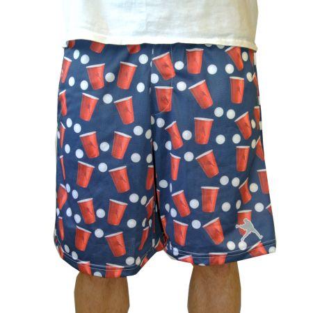#LacrosseUnlimited Exclusive Beer Pong Shorts in Navy. #lax #beer #pong #alwaysCustom