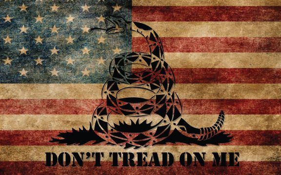 "Don't Tread on Me US Flag | x8"" DONT TREAD ON ME Old American Flag Vinyl Decal Sticker USA Tea ..."