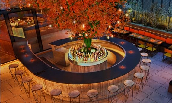 Sushi Samba London. Roof terrace perfect for a summer evening date
