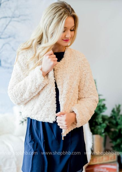 Girl Meets Glam- Faux Fur Jacket