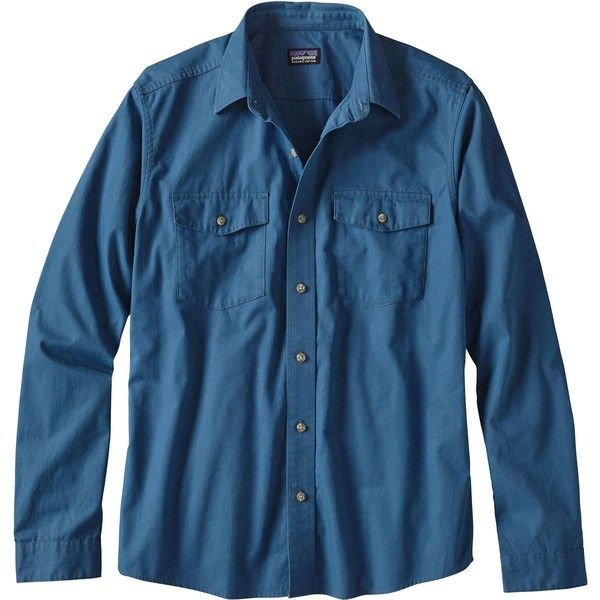 Patagonia All-Wear Shirt (105 AUD) ❤ liked on Polyvore featuring men's fashion, men's clothing, men's shirts, men's casual shirts, mens canvas shirts, mens long sleeve collared shirts, mens long sleeve shirts, mens grandad collar shirts and patagonia mens shirts
