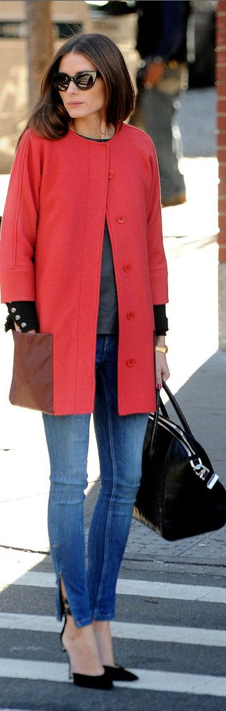 Love everything about this except the fact that the coat doesnt have a collar @Julie Coppa  Olivia Palermo