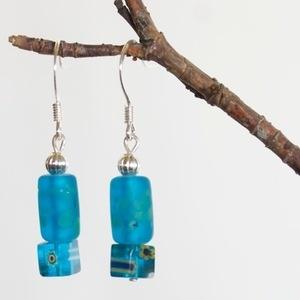 Leopard Tree Original Blue Glass Tube Earrings ~ $14.99 www.leopardtree.com