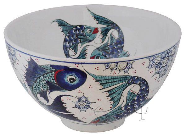 Iznik Design Ceramic Bowl from Turkey.