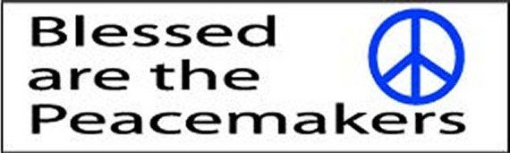Blessed Are The Peacemakers Peace Sign Funny Car Decal BUMPER STICKER STI-0599
