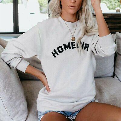 Womens HOMEGIRL Print Hoodie Sweatshirt Ladies Plus Size Pullover Jumper Tops #f…