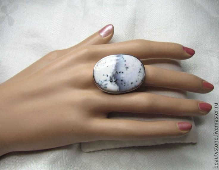 Купить Кольцо Опал Дендритовый № 1 - разноцветный, кольцо с опалом, опал натуральный