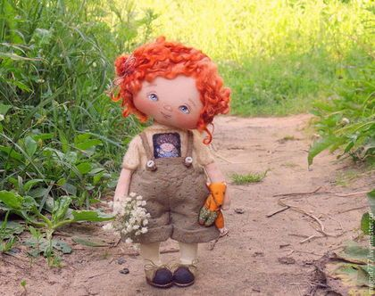 Коллекционные куклы ручной работы. Ярмарка Мастеров - ручная работа. Купить Варенька. Handmade. Текстильная кукла купить, коллекционная кукла