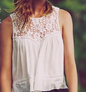 One of the cutest shirts I've ever seen! Love the flowyness and lace detail. Perfect for summer!!!! From Abercrombie & Fitch