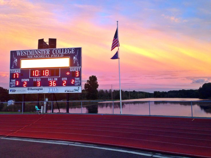 Sunset @ Burry Stadium- image by Tiffany Jackson.  Gr8 sunset pix by WCN's @tjackkk4 during football on Sat @WCtitansFB @westminsterpa #sunset @WCBC309Sports14