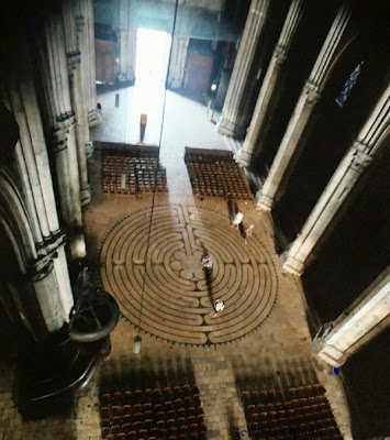 The labyrinth on the floor of Chartres Cathedral