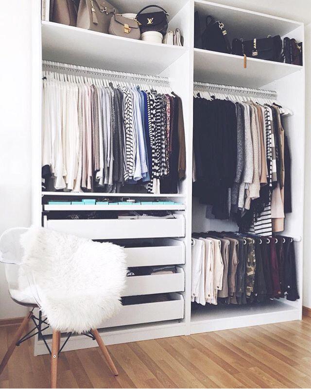 I wish my wardrobe was this organised!
