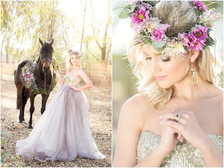 Dress style Amber with Gold sequins bustier and Lavender Grey tulle skirt by Janita Toerien. Photo by Stella Uys