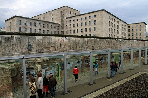 Berlin wall and Aviation Ministry Building - Berlin, Germany
