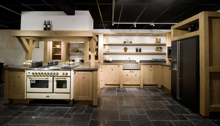 rustieke witte houten keuken - Google zoeken