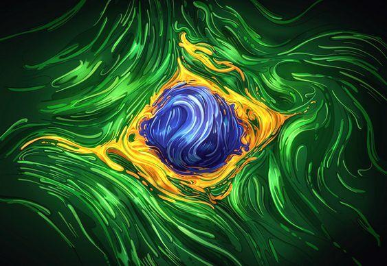 Bandeira do Brasil em ilustração 2D