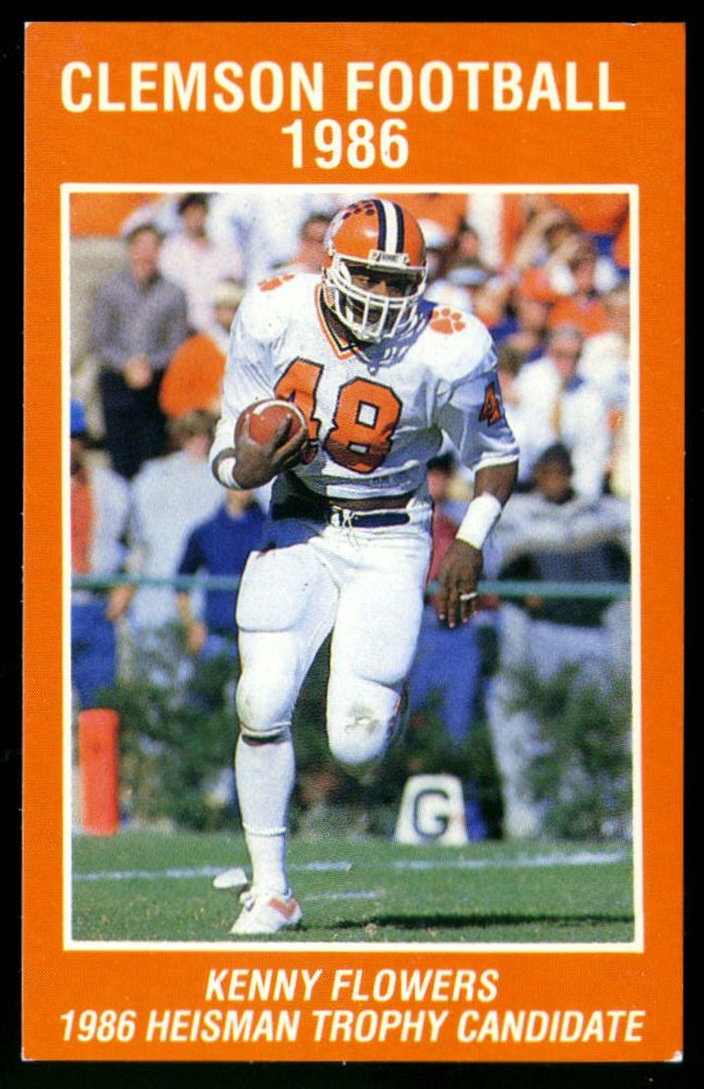 1986 CLEMSON TIGERS AMERICAN GENERAL LIFE FOOTBALL POCKET SCHEDULE FREE SHIPPING #PocketSchedules