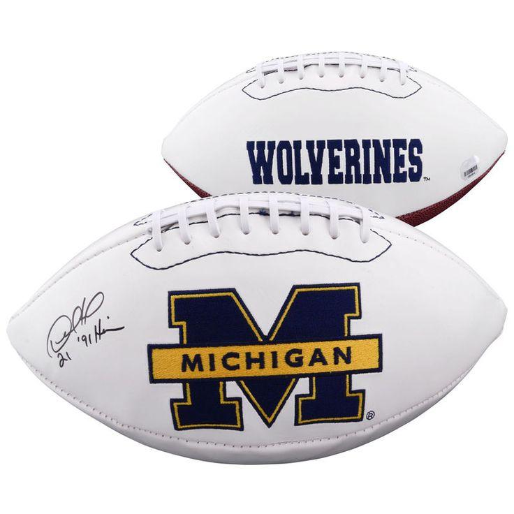 Desmond Howard Michigan Wolverines Fanatics Authentic Autographed White Panel Football with 91 Heisman Inscription