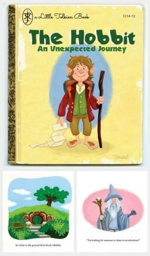 The hobbit reimagined as a Golden Book - Boing Boing