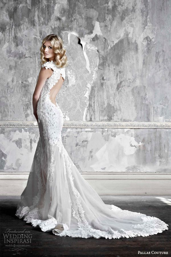 pallas couture 2015 la promesse bridal collection colette french tulle applique wedding dress keyhole back