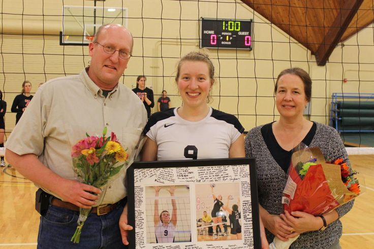 volleyball senior night gift ideas | Oct. 25, 2012 - Volleyball vs Haverford - Senior Night