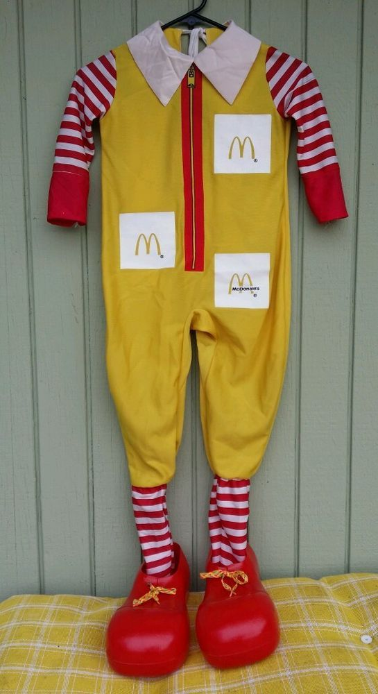 FAST SHIPPING!! 1997 Youth Ronald McDonald Costume Shoes Rubies Small 4-6 Kids  #Rubies