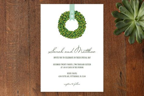 Boxwood Wedding Invitations by Penelope Poppy at minted.com // THESE MIGHT BE MY FAVORITE