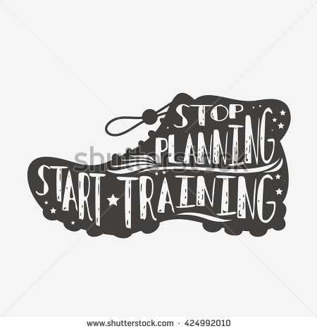 Stop planning. Start training. Motivational and inspirational illustration with quote. Lettering. Typography design. Vector - stock vector - Tap the pin if you love super heroes too! Cause guess what? you will LOVE these super hero fitness shirts!