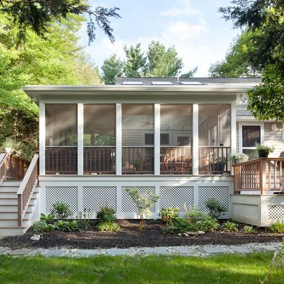 82 best mobile homes modern style images on pinterest for Mobile home screen porch