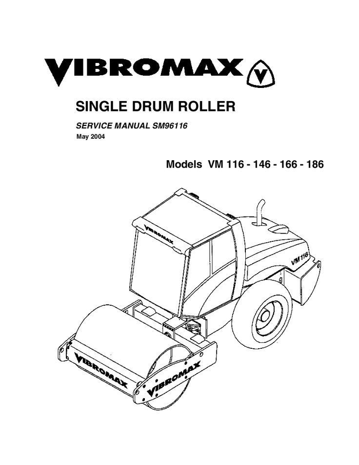 JCB Vibromax VM116 VM146 VM166 VM186 Single Drum Roller