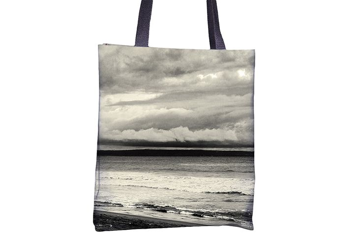 """Tote Bag - """"Cloudy Beach"""" http://www.lawleypop.ca/shop/product/tote-bag-cloudy-beach/ OFFICIAL LAWLEYPOP MERCHANDISE #allover #full #seamless #doublesided #print #printed #printing #lawleypop #lwleypop #lawleypopdesign #lawleypopmerch #fashion #accessories #style #bags #totes #totebags #handbags #shoulderbags #chic #street #urban #unique #custom #photography #landscape #nature #beach #summer #ocean #tide #vacation #waves #greyscale #Black #white #gray #water #sea #vacay #label #logo #brand…"""