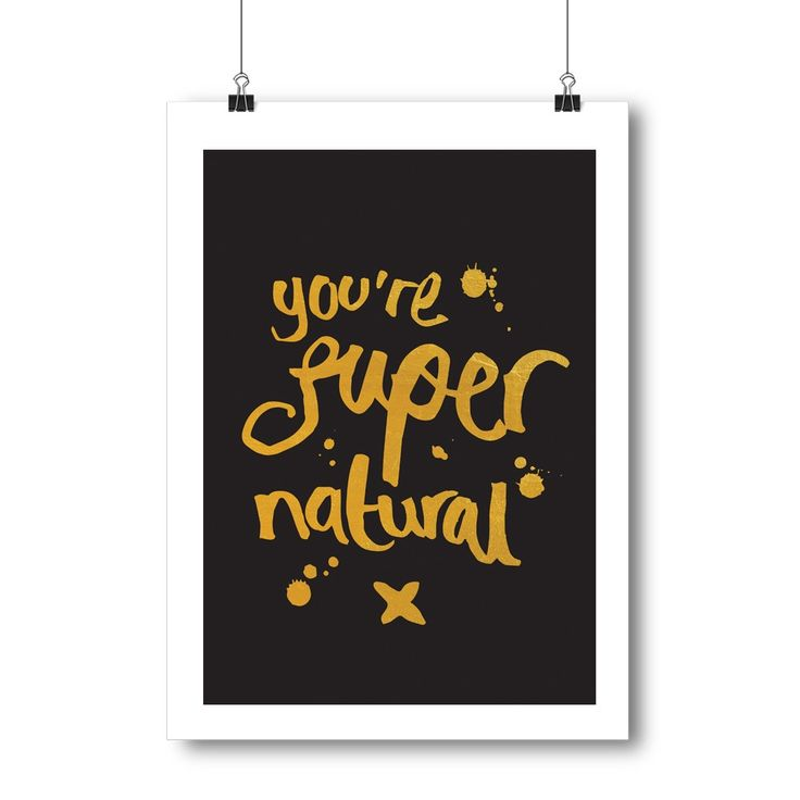 Supernatural Foil Print in Black/Pink
