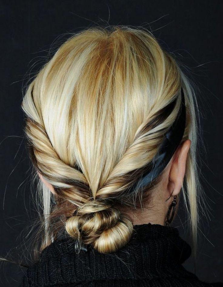 Cheveux mi-longs colorés hiver 2015