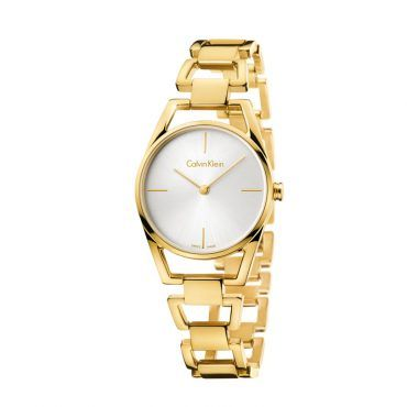 K7L23546 Γυναικείο ελβετικό ρολόι CALVIN KLEIN Dainty με επίχρυσο ατσάλινο μπρασελέ και ασημί καντράν | Ρολόγια CK ΤΣΑΛΔΑΡΗΣ στο Χαλάνδρι #Calvin #Klein #dainty #επιχρυσο #μπρασελε #ρολοι
