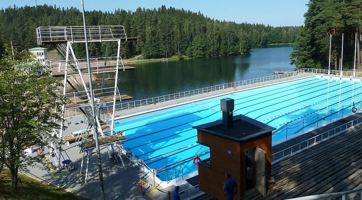 Ahvenisto Swimming Pool for the 1952 Olympic Games. Photo: Timo Leponiemi YLE