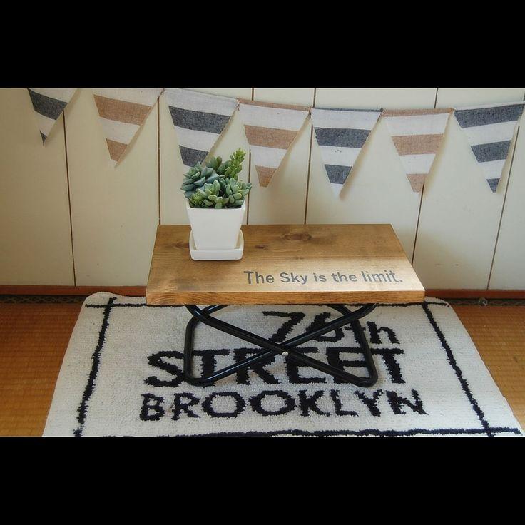 ダイソー・セリアのパイプ椅子を、男前なラックやテーブルにリメイク☆ | folk
