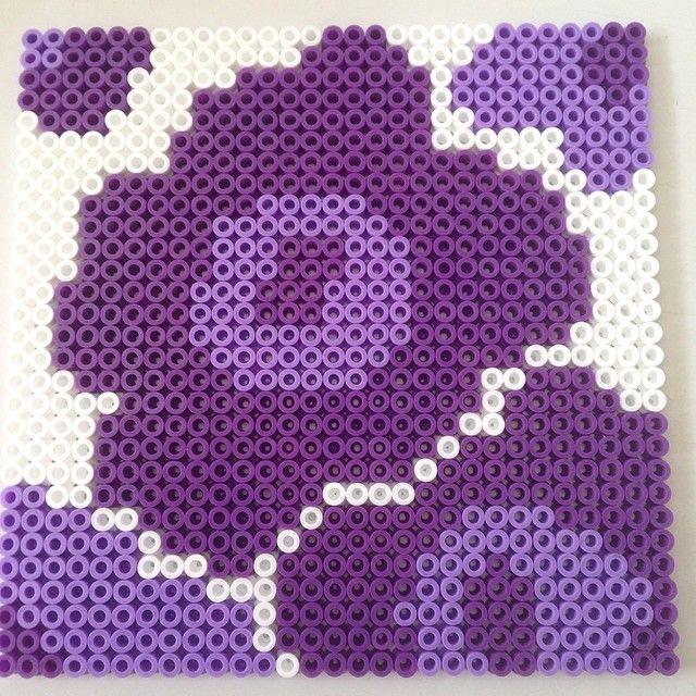 Marimekko flowers hama beads by frublom