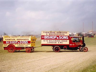 #OurHistoricVehicles #BishopsMove Our #Foden HH #Steam Wagon at Dorset Steam Fair towing our horse drawn pentechnicon