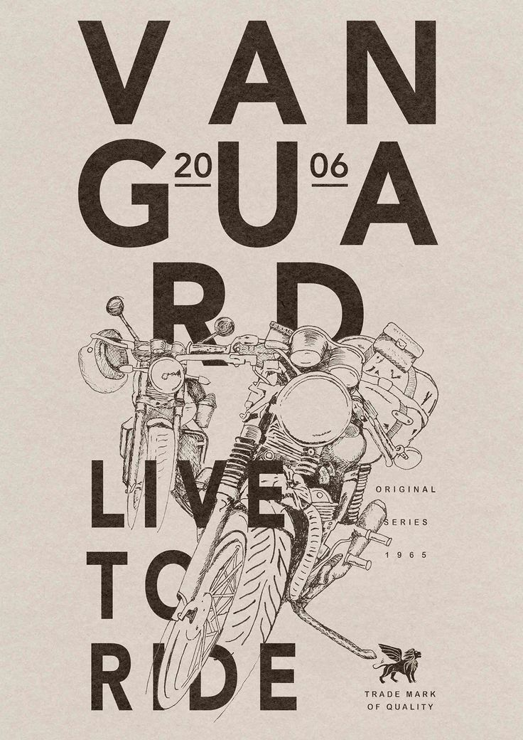 Motorcycle inspired artworks for Vanguard clothing on Behance